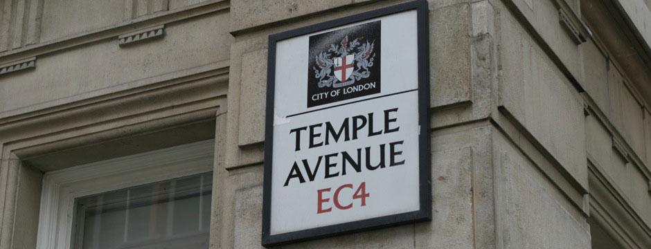 Temple avenue sign