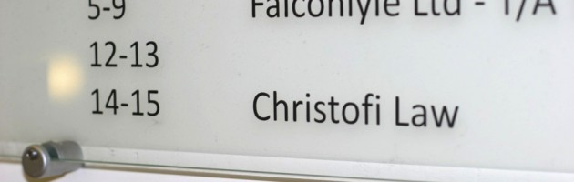 Christofi Law sign