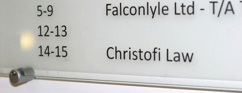 Christofi Law sign